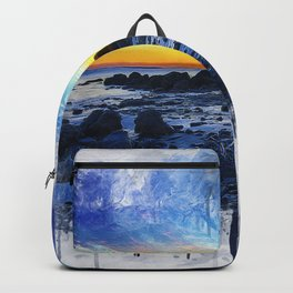 Ocean Sunset Painting Backpack