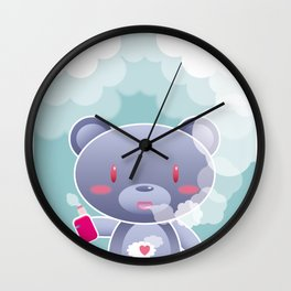Vapers are Welcome (bear edition) Wall Clock
