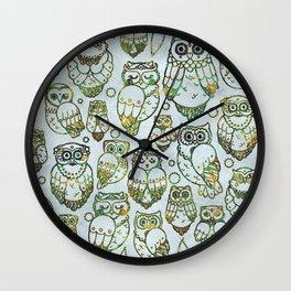 Decorative Owls Wall Clock