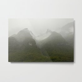 mountain top in the clouds of Norway  | nature photo | fine art photo print | travel photography Metal Print