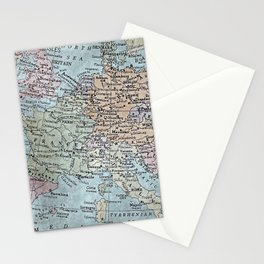 old map of Europe Stationery Cards