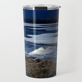 Rundle Mountain Reflections Travel Mug