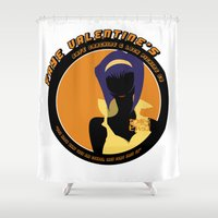 cowboy bebop Shower Curtains featuring Bebop Faye by AngoldArts