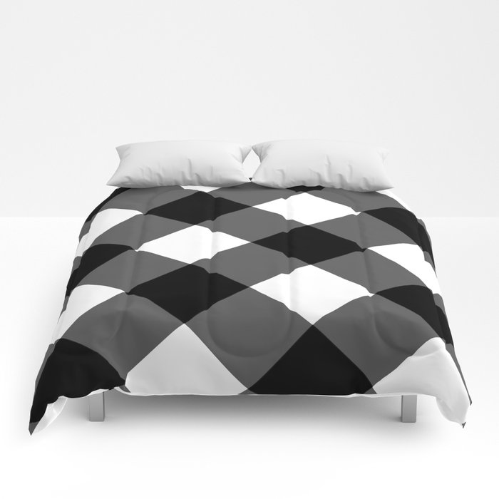 black and white 3 Comforters