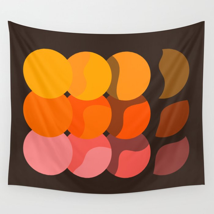 Sunset Discs Wall Tapestry