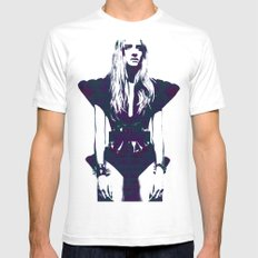 Fashion White SMALL Mens Fitted Tee