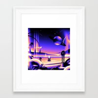 oasis Framed Art Prints featuring Oasis by victormgraphics