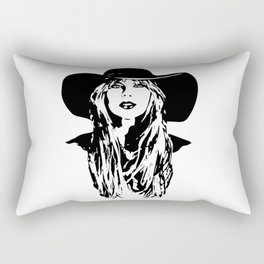 PORTRAIT OF A FEMALE POP SINGER AND SUPERSTAR Rectangular Pillow