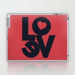 Love illustration, wall art, gift for couples, present for him, for her, Valentine's Day Laptop & iPad Skin