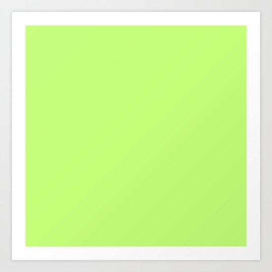 Neon Green Summer Art Print