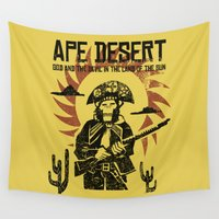 ape Wall Tapestries featuring Ape desert by PRIMATE