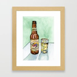 Kirin Beer and Glass Framed Art Print