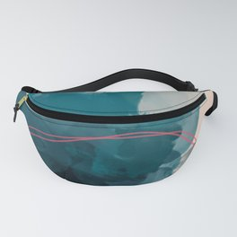 Abstract Lines In A Pool Fanny Pack