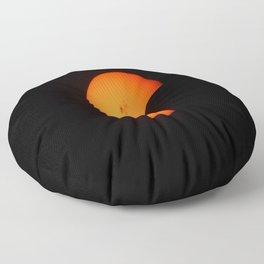 partial solar eclipse inverted Floor Pillow