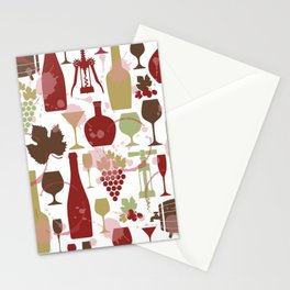 I Love Wine Stationery Cards