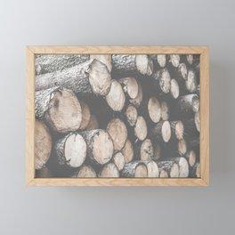 Pile of Felled Wood Framed Mini Art Print