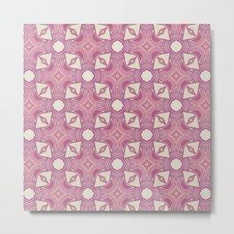 Woodblock pattern Metal Print