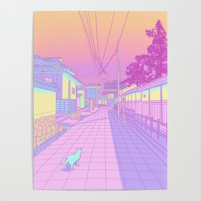 Kyoto Cats Poster