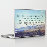 kerouac Laptop & iPad Skins featuring Hwy 1 Kerouac by Altgasse Designs