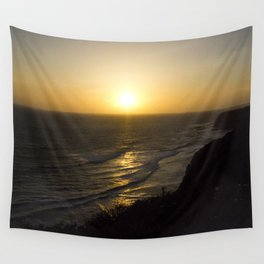 Cliff Top Sunset Wall Tapestry