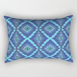 Blue Zap Rectangular Pillow