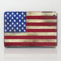 american flag iPad Cases featuring American Flag by Jason Michael