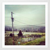 farm Art Prints featuring Farm by sharinerin