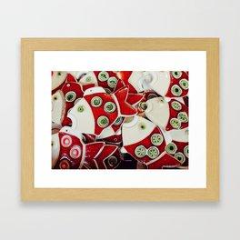 Christmas porcelain fish Framed Art Print