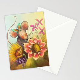 Spring Mouse Stationery Cards