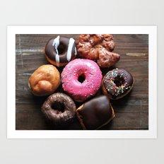 Mmmm Donuts Art Print
