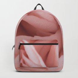 close up blush rose Backpack