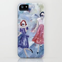 Social Distancing American Style - With Masks iPhone Case