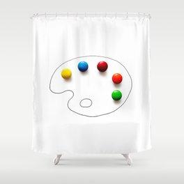 Artist's chocolate Shower Curtain