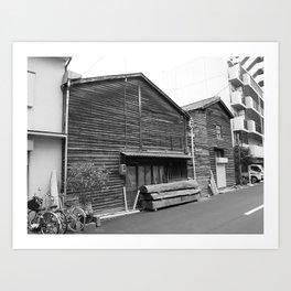 Osaka woodwork Art Print