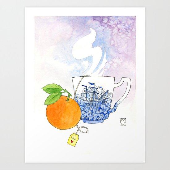 Orange Cup Art Print