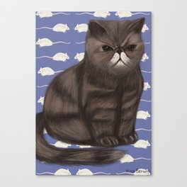 Cranky Cat / Shitty Kitty Canvas Print