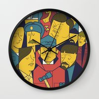 fargo Wall Clocks featuring Fargo by Ale Giorgini
