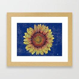 Swirly Sunflower Framed Art Print