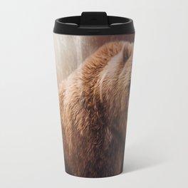Great Strength - Grizzly Bear Art by Jordan Blackstone Travel Mug