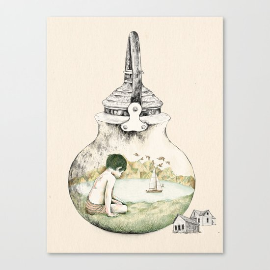 Kettle - print Canvas Print