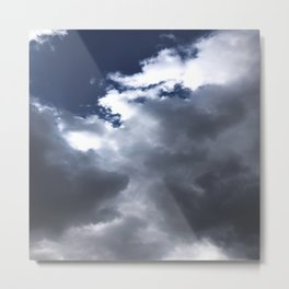 Blue Sky White Clouds Metal Print