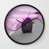 leaf Wall Clocks featuring Leaf by Aloke Design