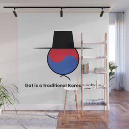 Gat is a traditional Korean culture Wall Mural