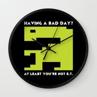 video game Wall Clocks featuring Worst Video Game Ever by Silvio Ledbetter