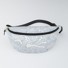 Japanese Wave Fanny Pack