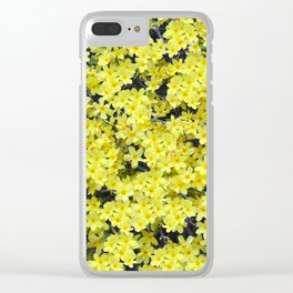 Happy Forsythia Clear iPhone Case
