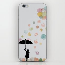 Colorful snow in Winter iPhone Skin