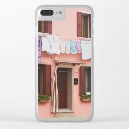 Burano in winter IV Clear iPhone Case