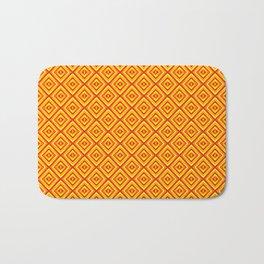 Orange Diamonds Bath Mat