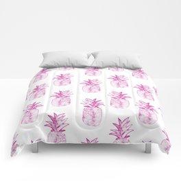 Pink Power Pineapple Comforters